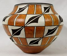 Historic Acoma Polychrome Pottery Olla, by Lolita Concho, #767 by CulturalPatina on Etsy