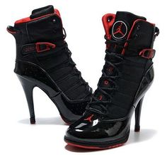In order to be more beautiful,most people buy Air Jordan 6 Rings High Heels to wear. Now buy this pair of Cheap Air Jordan 6 Rings High Heels. Nike High Heels, Black High Heels, High Heel Jordans, Nike Air Jordans, Heeled Boots, Shoe Boots, Shoes Heels, Stiletto Boots, Red Heels