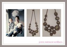 @J.Crew statement necklaces