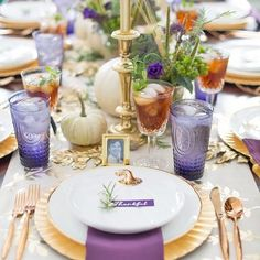 """6e6cf7ca644 Belle And June on Instagram  """"I ve got Thanksgiving table scapes on my  mind. I am obsessed with this one featured on  pizzazzerie I love the  combination of ..."""