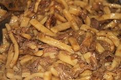 Beef and Noodles-crockpot
