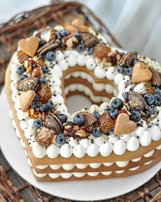 ❤❤❤ You've to Love what you do!😍Хромова Мария Олеговна Do you know how to make Number cake?🤗 - Start to bake with All number cakes recipes in bio! Food Cakes, Cupcake Cakes, Cake Fondant, Beautiful Cakes, Amazing Cakes, Cake Recipes, Dessert Recipes, Heart Shaped Cakes, Biscuit Cake