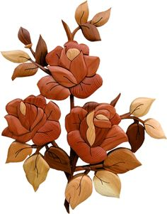 Intarsia Direct - 3 Roses