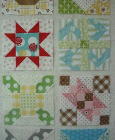 Farmers wife quilting blocks tutorials. I think I may very well be in love with all of them!