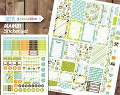 MAMBI Planner stickers Printable Stickers owl by BetsyPrintables