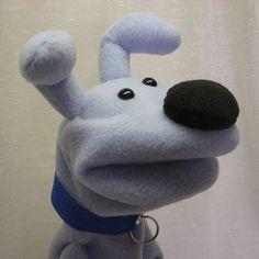Marionette Puppet, Sock Puppets, Hand Puppets, Finger Puppets, Living Puppets, Puppet Patterns, Puppet Making, Blue Dog, Felt Animals
