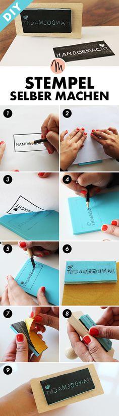 Stempel selber machen - DIY-Anleitung via Makerist.de