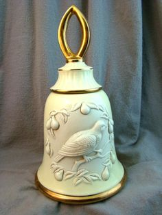 Vintage Jim Beam CHRISTMAS BELL DECANTER by DUSTYROSEMARKETPLACE, $24.50