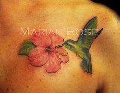 Hummingbird with Hibiscus