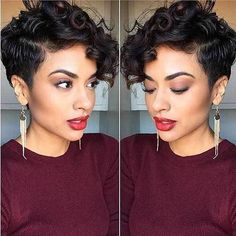 17 Incredible Curly Pixie Cuts You'll Love: #6. Natural Curly Hair; #pixie #PixieHairstylesCurly