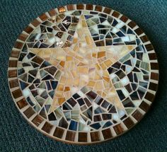 rustic lazy susan - love artwork, especially mosaics that are useful as well as pretty.