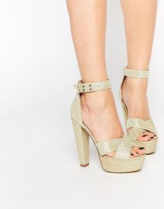 a8404bd2b7f Truffle Collection Raya Platform Ankle Strap Heeled Sandals