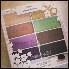 Love my new #wetnwild #spring forward #eyeshadow palette. #makeup #cosmetics