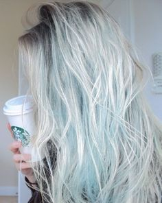 grey and geen/blue hair by hattie