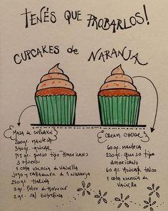 Cupcakes de naranja - Isabel Vermal