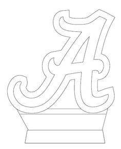 University of Alabama script A logo –AWESOME STENCIL!