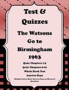 the watsons go to birmingham essay The book is a great read with a lot of interesting and applicable historical information here is a summary of the watsons go to birmingham-1963, including a character list.