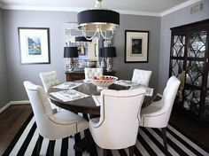 Benjamin Moore Color Palette kendall charcoal | Most Popular Grey Paint Colors - like idea of round table and love chairs. love color palette