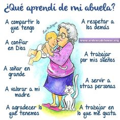 Reconozco y agradezco lo que me das abuelita.