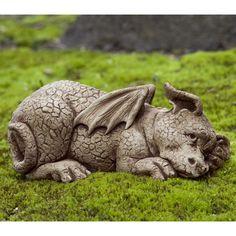 Campania International Puzzle The Dragon Cast Stone Garden Statue