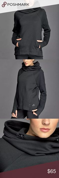 NWT Nike tech fleece pullover hoodie New with tags Nike tech fleece pullover hoodie black & grey Nike Tops Sweatshirts & Hoodies