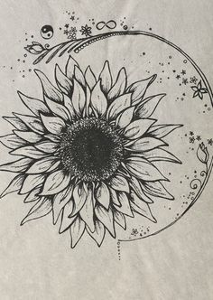 Sunflower tattoo, without the ring around it.
