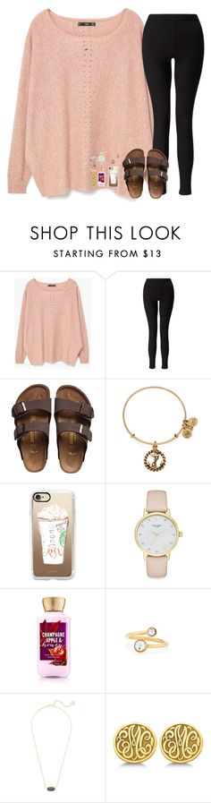"""""""don't be a fool"""" by hailstails ❤ liked on Polyvore featuring MANGO, Miss Selfridge, Birkenstock, Alex and Ani, Casetify, Kate Spade, Kendra Scott, Allurez and Kim Rogers"""