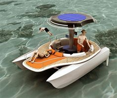 PV paddle boat concept.