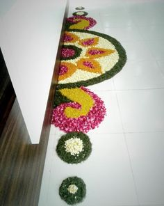 Get the best rangoli design for this season. Try these rangoli designs, make them to decorate your home during festivals and other special occasions. Simple Rangoli Designs Images, Rangoli Designs Flower, Rangoli Border Designs, Rangoli Patterns, Colorful Rangoli Designs, Rangoli Ideas, Rangoli Designs Diwali, Beautiful Rangoli Designs, Flower Designs