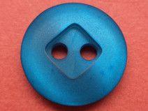 11 kleine KNÖPFE blau 13mm (1553-3) Blusenknöpfe