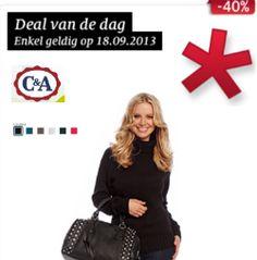 Dagaanbieding bij C&A, mooie basic pull voor slechts €7,50