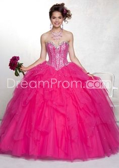 Wonderful sweetheart neck beading 2014 pink puffy quinceanera dresses Style 88049