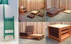 Small Apartment Interior Design Ideas - Home Decoration Compact Furniture, Tiny House Furniture, Folding Furniture, Space Saving Furniture, Funky Furniture, Furniture For Small Spaces, Furniture Design, Furniture Ideas, Folding Chair