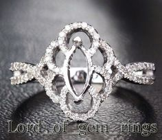 4x8mm Marquise Cut 14K White/Yellow/Rose Gold .25ct by TheLOGR, $476.00