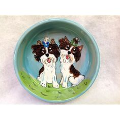 "Dog Bowl, 8"" Dog Bowl for Food or Water. Personalized at no Charge. Signed by Artist, Debby Carman. -- Please be sure to check out this awesome product. (This is an affiliate link and I receive a commission for the sales)"