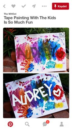 Name painting for kids (autumn activities for kids crafts) Easy Crafts For Kids, Craft Activities For Kids, Diy For Kids, Painting Crafts For Kids, Babysitting Activities, Crafts With Babies, Craft Ideas For Girls, Kids Craft Projects, Activies For Kids