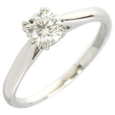Harry Winston 950 Platinum Diamond Ring US Size With Box/Cert Platinum Diamond Rings, Platinum Jewelry, Platinum Engagement Rings, Diamond Solitaire Rings, Diamond Jewelry, Mommy Jewelry, Fine Jewelry, Jewelry Rings, Jewellery