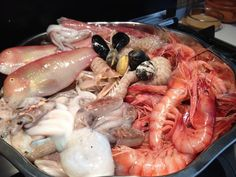 Shrimp, About Me Blog, Food, Seafood Paella, Meal, Eten, Meals