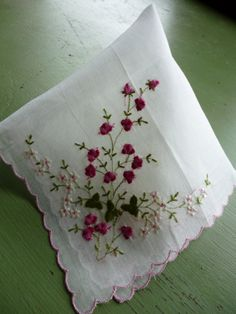 Embroidered handkerchief.