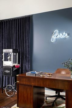 'I think if your house doesn't make you laugh, you're kind of doing it wrong': When it came to the 'farts' neon sign hanging in her husband Andy Roddick's office, the 29-year-old actress remains greatly amused