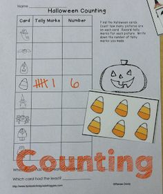 Halloween Math- read the room counting