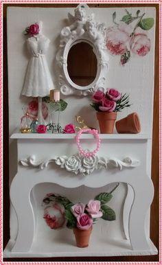 Placa Rústica Aparador Feminino - Roses