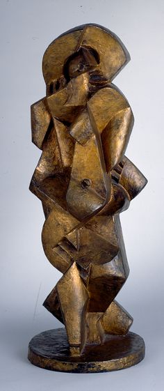 Title: Bather III  Artist: Jacques Lipchitz  Region: USA  Period: 1916-1917  Material: bronze with gold patina   Dimensions: 27 in. high  On view in the museum