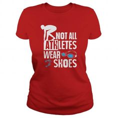 Swimmers ARE Athletes T Shirts, Hoodies. Get it now ==► https://www.sunfrog.com/Sports/Swimmers-ARE-Athletes-104064078-Red-Ladies.html?57074 $19