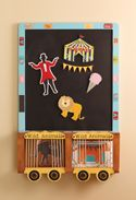 """Under the Big Top"" circus project that is featured in the new #Cricut Expression book by Cathy Rigby and published by Gibbs-Smith!"