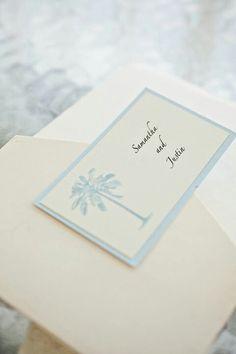 Beach theme wedding invitation