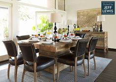 Living Spaces: Raw Character styled by Jeff Lewis - I want this table!