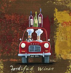 'Fort'ified Wines' by Frans Groenewald Fat Chef Kitchen Decor, Kitchen Art, Decoupage Printables, Quirky Art, Africa Art, Wine Art, Classic Paintings, In Vino Veritas, Wine Time