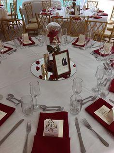 Disney themed wedding | Disney | Disney Centrepieces | Wedding decor | mauve | Beauty and the Beast | Disney Reception | Favours | Tables | Cake | Bridesmaids |