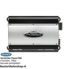 Jensen Marine POWER760 versterker. 4 kanalen, 760W, gecoate printplaten.